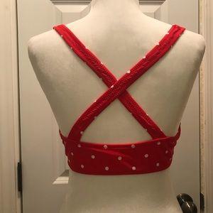 Cupshe Swim - Knotted Scoop Red Polka Dot Bikini